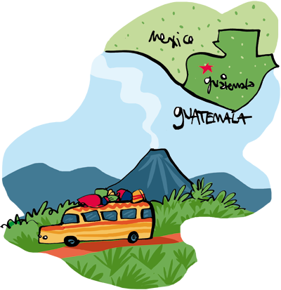 Guatemala Rainforest Map