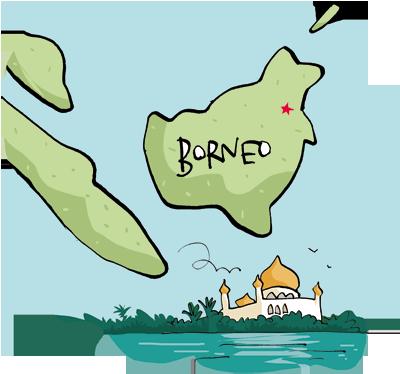 Borneo Rainforest Map