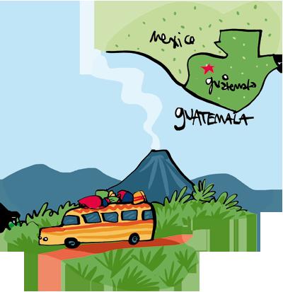 Guatemala Rainforest Map